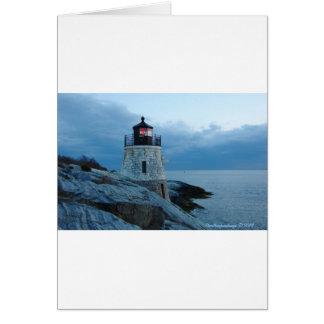 城の丘の灯台ニューポートのRIカード カード
