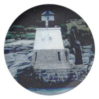 城の丘の灯台プレート2 プレート