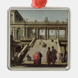 城の中庭1762年 メタルオーナメント