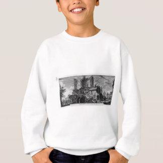城の台なしの前部の見通し スウェットシャツ