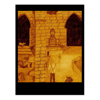 城の地下 ポストカード