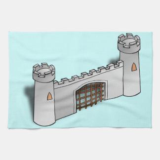 城の壁 キッチンタオル