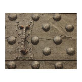 城の木製の壁の芸術のドア ウッドウォールアート