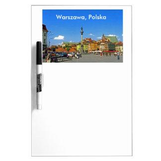 城の正方形、ワルシャワ、ポーランド ホワイトボード