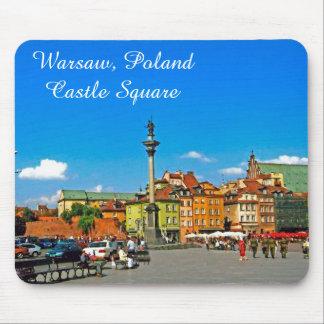 城の正方形、ワルシャワ、ポーランド マウスパッド