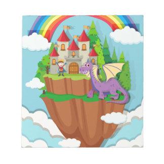 城の王子そしてドラゴン ノートパッド