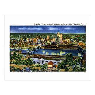 城のShannonの傾斜、ピッツバーグ、PA ポストカード