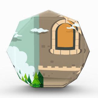 城タワーおよび松の木 表彰盾