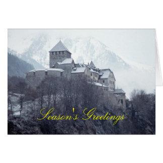 城ファドゥーツリヒテンシュタイン グリーティングカード