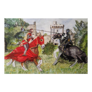 城ポスターに対する中世馬上槍試合 ポスター