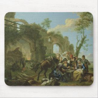 城砦とのクラシカルな台なし間で休んでいる騎手 マウスパッド
