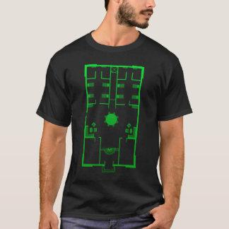 城砦のエデンの地図 Tシャツ