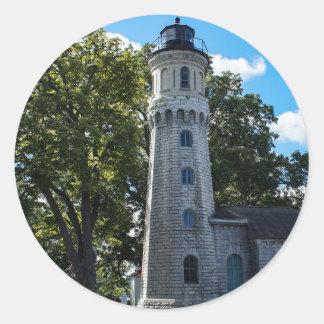 城砦のナイアガラの古い灯台 ラウンドシール