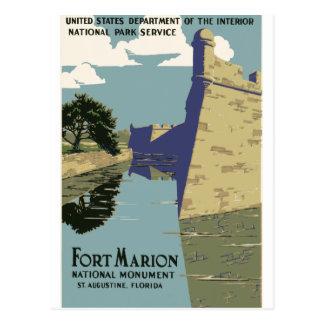 城砦のマリオンのヴィンテージ旅行ポスター ポストカード