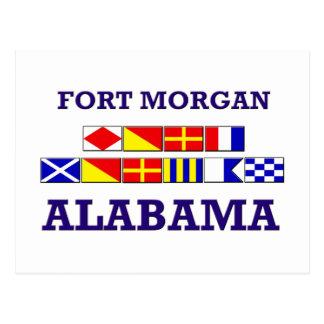 城砦のモーガンの旗の郵便はがき ポストカード