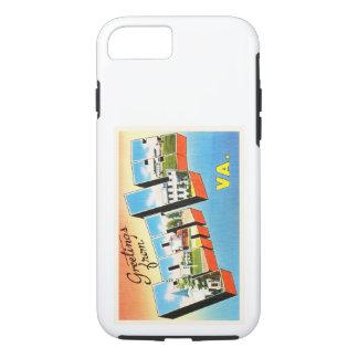 城砦のリーヴァージニアVAの古いヴィンテージ旅行郵便はがき iPhone 7ケース
