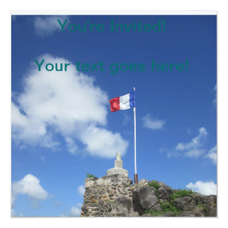 """城砦のルイの旗""""St. Maarten """" カード"""