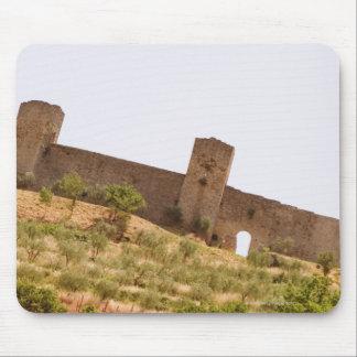 城砦の低い角度眺め、Monteriggioni、シエナ マウスパッド