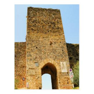 城砦の低い角度眺め、Porta Franca、 ポストカード