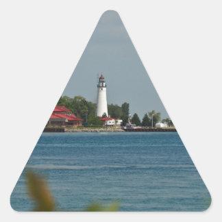 城砦のGratiotの灯台 三角形シール