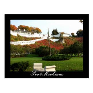 城砦のMackinacの郵便はがきの秋 ポストカード
