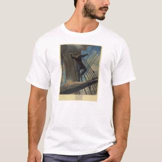 城砦を渡す囲い板Farragutに打たれる Tシャツ