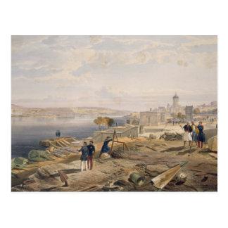 城砦ニコラスのプレートfの後部からのセバストーポリ ポストカード