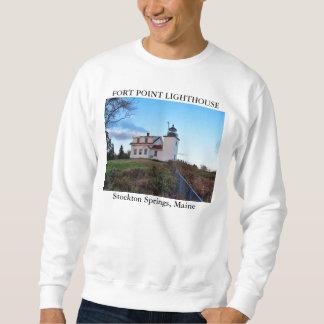 城砦ポイント灯台、Stocktonはメインはねます スウェットシャツ