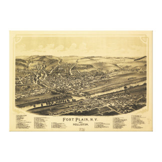 城砦明白なニューヨークおよびNelliston (1891年) キャンバスプリント
