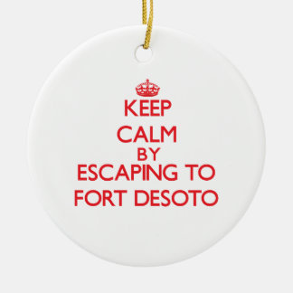 城砦Desotoフロリダへの脱出によって平静を保って下さい セラミックオーナメント