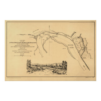 城砦Hindmanのアーカンソーのポストへのアプローチ ポスター