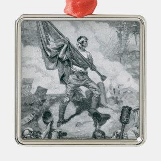 城砦Moultrieの戦いのJasper下士官 メタルオーナメント
