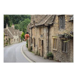 城Combeのイギリスの写真のプリントのコテージ フォトプリント