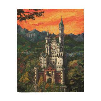 城Schlossノイシュヴァンシュタイン城 ウッドウォールアート