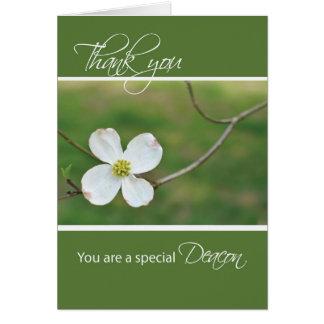 執事はミズキの花感謝していしています カード