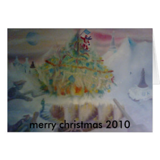 執権期間のchristmass、メリークリスマス2010年 カード
