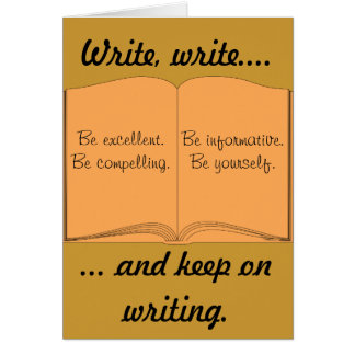 執筆で書き、書き、そして保って下さい カード
