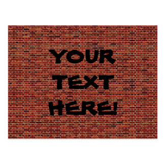 執筆は壁にあります: あるレンガ壁! ポストカード