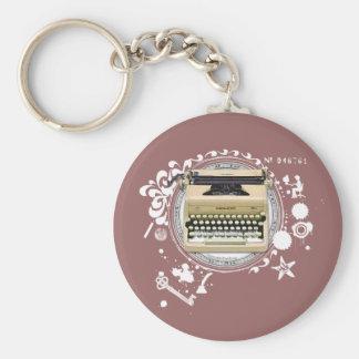 執筆タイプライターの錬金術 キーホルダー