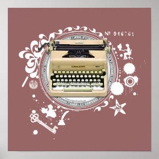 執筆タイプライターの錬金術 ポスター