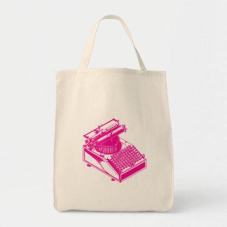 執筆機械-マゼンタの作家のタイプライター--をタイプして下さい トートバッグ