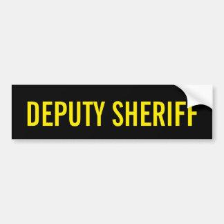 執行官代理-金黄色いロゴの紋章 バンパーステッカー