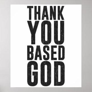 基づかせていました神をありがとう ポスター