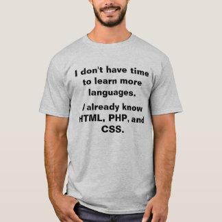 基づく言語 Tシャツ