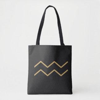 基本アクエリアスの(占星術の)十二宮図の印 トートバッグ