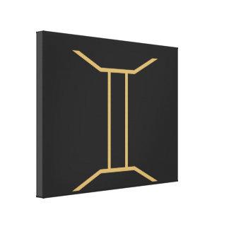基本ジェミニ(占星術の)十二宮図の印 キャンバスプリント