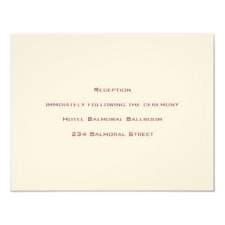 基本原則::  ベニス風の赤:: 披露宴の招待状 カード