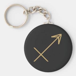 基本射手座の(占星術の)十二宮図の印 キーホルダー
