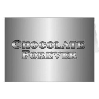 基本永久にチョコレート- カード