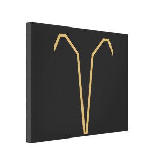 基本牡羊座の(占星術の)十二宮図の印 キャンバスプリント